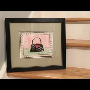 👛 👜 Purse Artwork Matted with Black Frame 🖼
